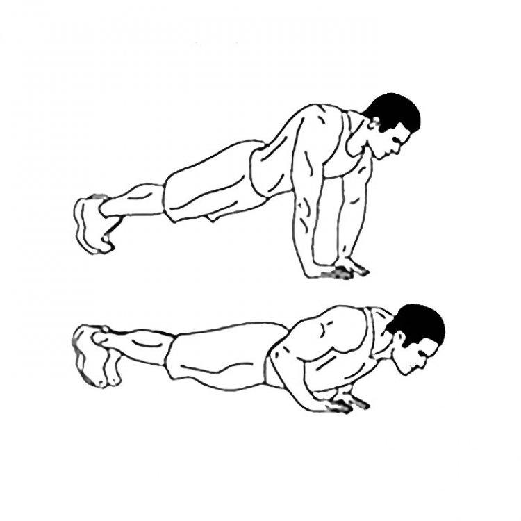 Diamond push-ups